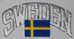 Sweden Embroidered Flag Patch, style 03.